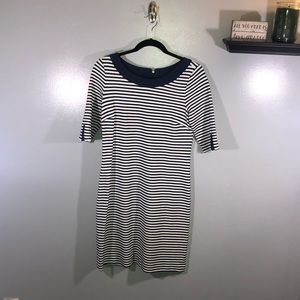 Banana Republic Strip Short Sleeve Dress